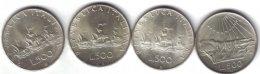 500 lire argento 1965 dante + 1965 ...